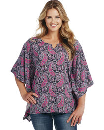Cowgirl Up Women's Print Poncho, , hi-res