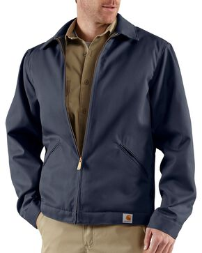 Carhartt Wrinkle Resistant Twill Work Jacket, Navy, hi-res