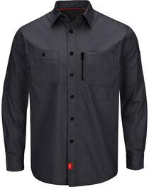 Red Kap Charcoal Grey MIMIX™ Woven Work Shirt , , hi-res