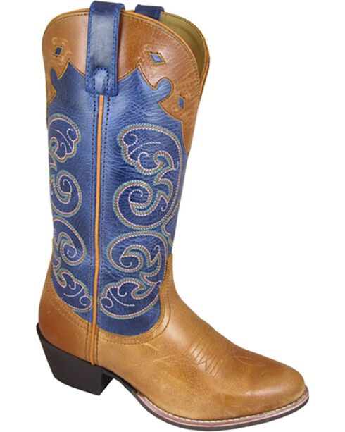 Smoky Mountain Women's Alpine Western Boots - Medium Toe , Tan, hi-res