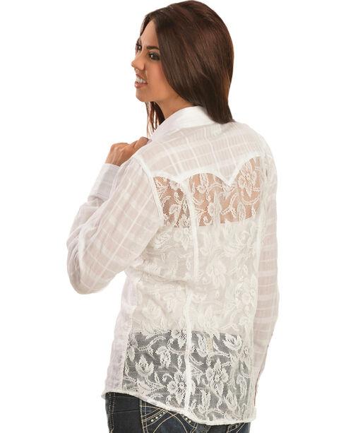 Ariat Women's Tetonia Long Sleeve Western Shirt, White, hi-res