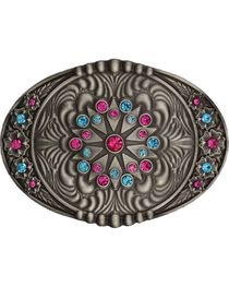 Montana Silversmiths Starburst Flower Belt Buckle, , hi-res