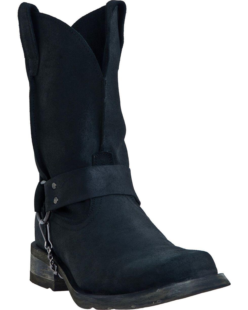 Dingo Men's Rough-Out Harness Boots, Black, hi-res