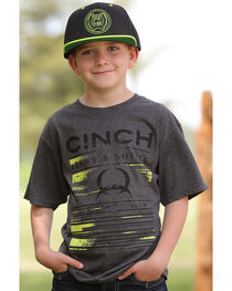 Cinch Boys' Short Sleeve Logo Graphic Tee, , hi-res