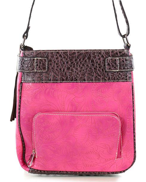 Savana Women's Floral Shoulder Bag, Hot Pink, hi-res