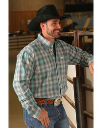 Cinch Men's Classic Fit Plaid Plain Weave Long Sleeve Button Down Shirt, , hi-res