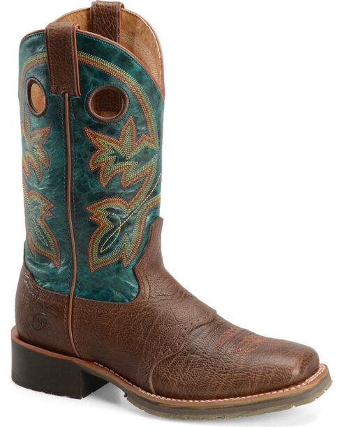 """Double H Men's 11"""" Wide Square Toe Western Boots, Brown, hi-res"""