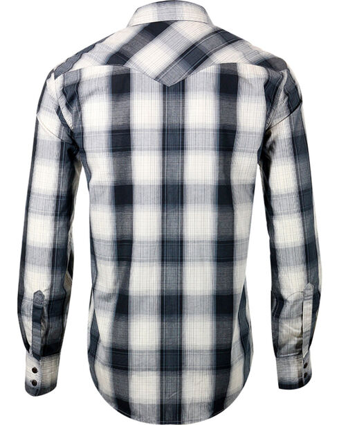 Levi's Men's Long Sleeve Plaid Shirt, Grey, hi-res