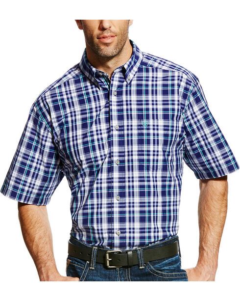 Ariat Men's Pro Series Easton Plaid Short Sleeve Shirt - Big & Tall, , hi-res