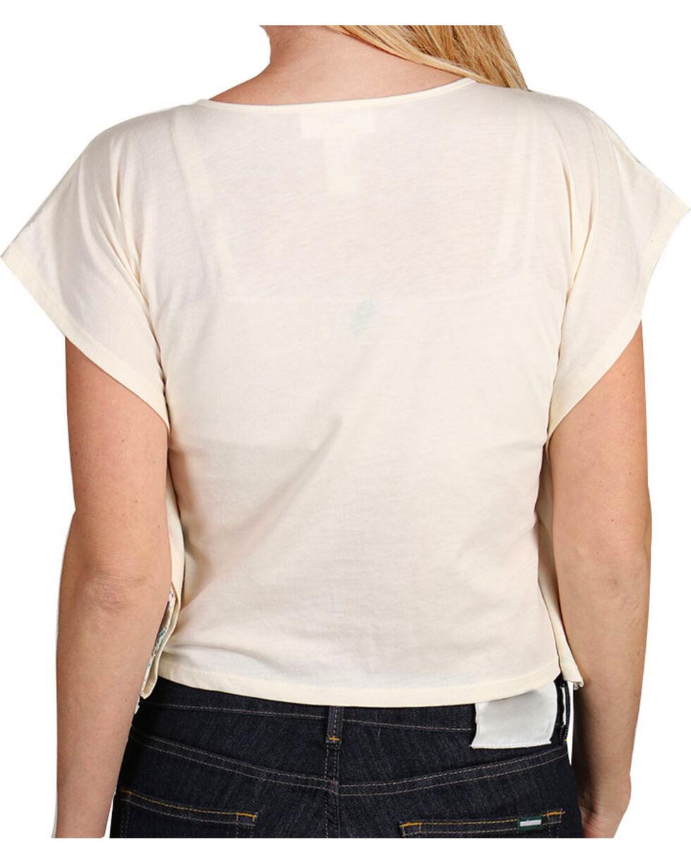 Shyanne® Girl's Chevron & Lace Poncho Crop Top, , hi-res