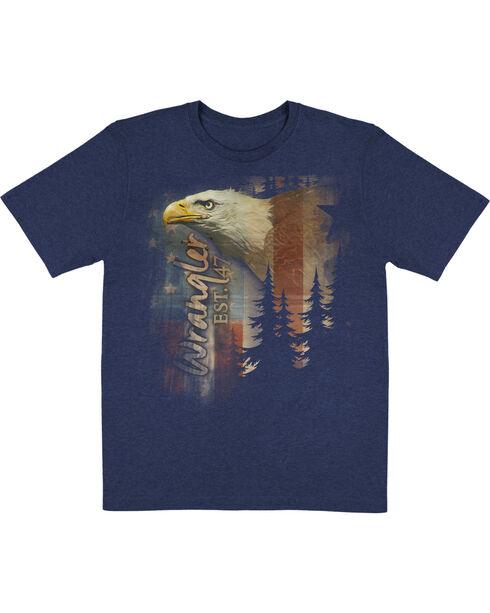 Wrangler Men's Rise & Fly Short Sleeve Print Tee, Navy, hi-res