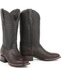 Stetson Men's Kaycee Caiman Belly Vamp Exotic Boots, , hi-res