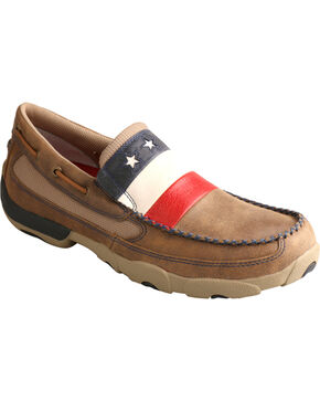 Twisted X Men's VFW Red White & Blue Moc Toe Slip On Shoes, Bomber, hi-res