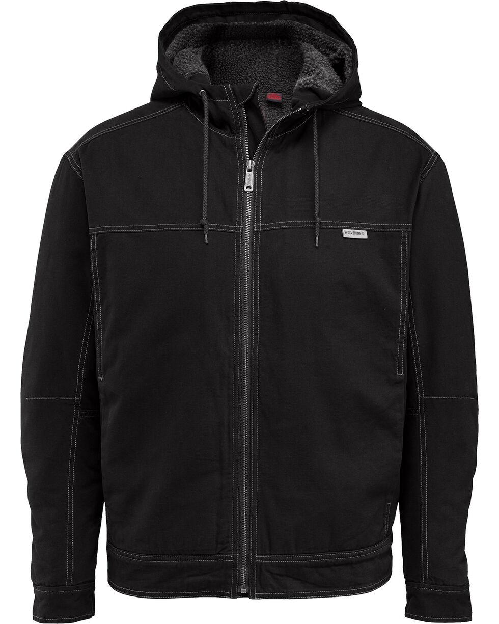 Wolverine Men's Porter Sherpa Hooded Jacket, Black, hi-res