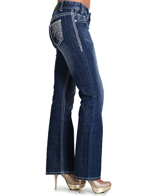 Denim bootcut low waist
