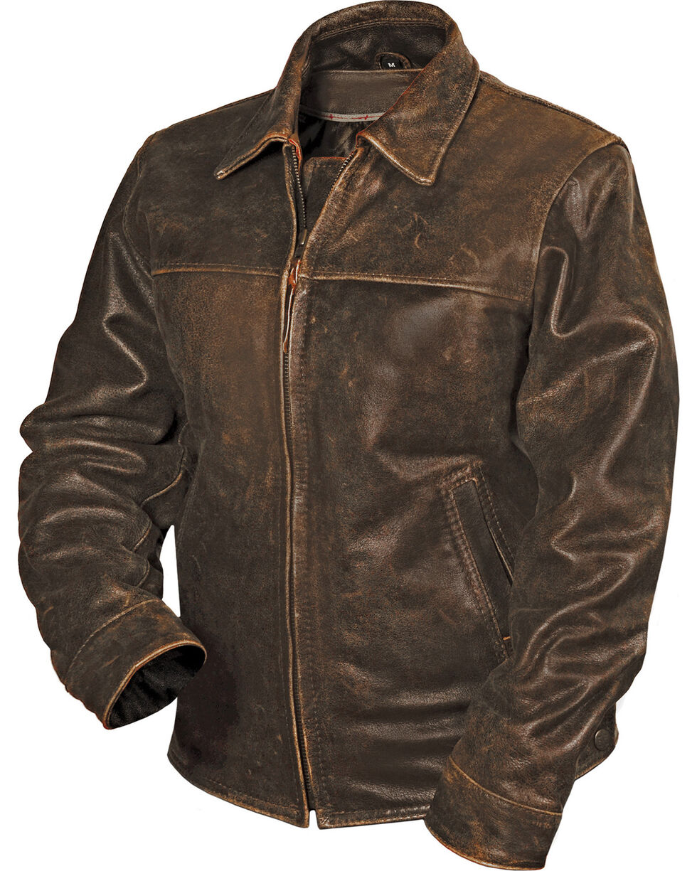STS Ranchwear Women's Rifleman Leather Jacket, Brown, hi-res