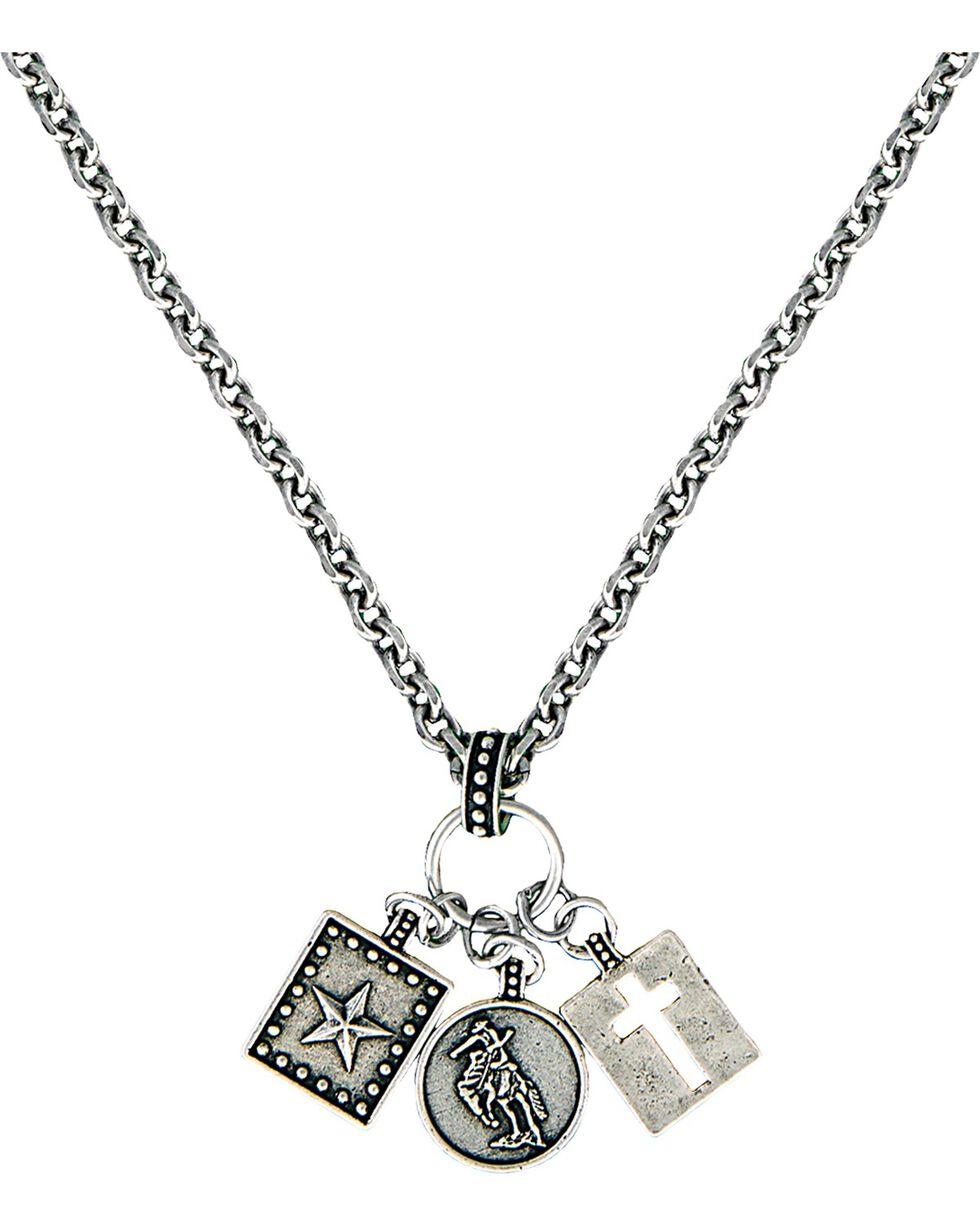 Montana Silversmiths Women's Charm Necklace, Silver, hi-res