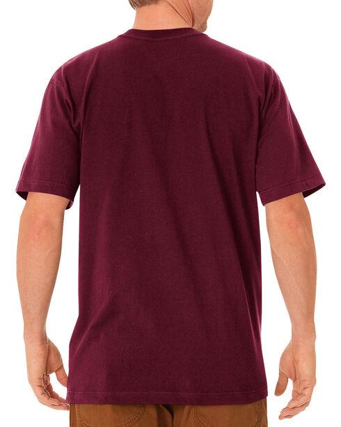 Dickies Men's Heavy Weight Short Sleeve Tee, Burgundy, hi-res