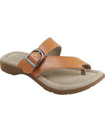 Eastland Women's Light Tan Tahiti II Thong Sandals  , , hi-res