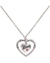 Montana Silversmiths Women's Heart to Heart Necklace, , hi-res