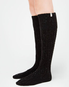 UGG® Women's Shaye Tail Rain Boot Socks, Black, hi-res