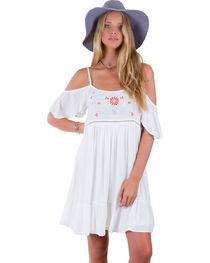 Others Follow White Harbor Mist Off Shoulder Dress , , hi-res