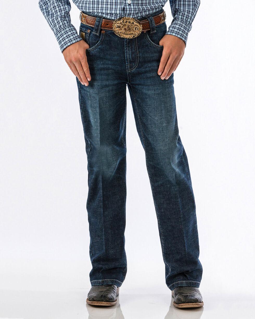 Cinch Boys' Carter Dark Wash Regular Fit Jeans (8-18) - Boot Cut, Blue, hi-res