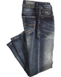 Grace in LA Girls' (4-6X) Simple Pocket Jeans - Skinny , , hi-res