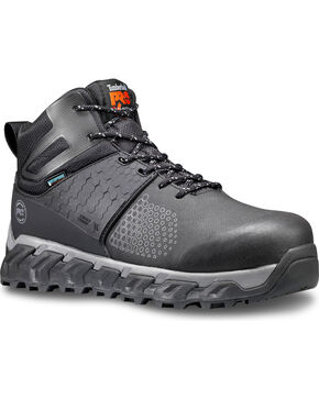 Timberland Pro Men's Ridgework Anti-Fatigue Work Boots - Comp Toe, Black, hi-res