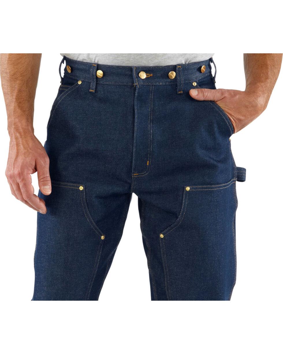 Carhartt Men's Double Front Logger Dungaree Jeans, Denim, hi-res