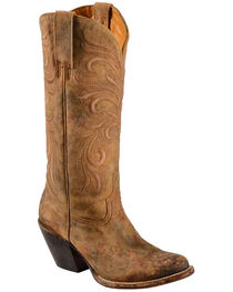 Lucchese Women's Laurelie Embroidered Floral Western Boots, , hi-res