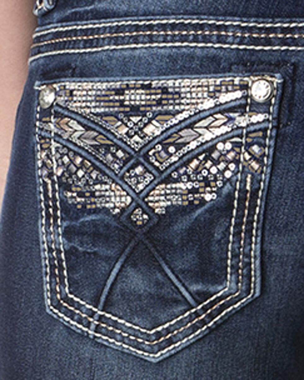 Miss Me Women's Indigo Heavy Stitched Jeans - Boot Cut , , hi-res