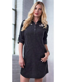 Ryan Michael Women's Embossed & Embroidered Dress, , hi-res