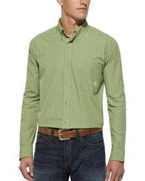 Ariat Green Plaid Randall Long Sleeve Shirt, , hi-res