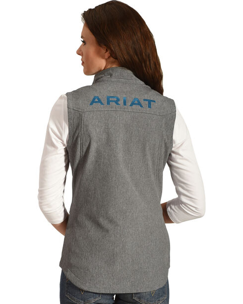 Ariat Women's Team Softshell Vest, Charcoal, hi-res