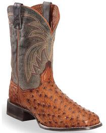Dan Post Men's Calhoun Ostrich Exotic Boots, , hi-res