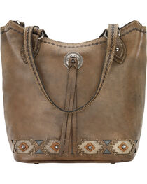 American West Women's Native Sun Zip Top Bucket Tote, , hi-res