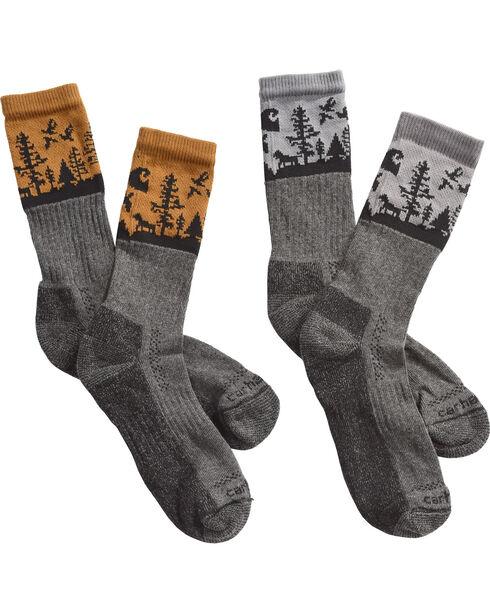 Carhartt Men's Special Edition Deer Season Crew Socks - 2 Pack, , hi-res