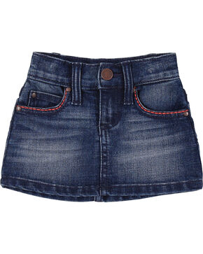 Wrangler Toddler Girls' Denim Skirt, Blue, hi-res