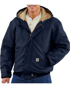 Carhartt Men's Flame Resistant Midweight Active Jacket, Navy, hi-res