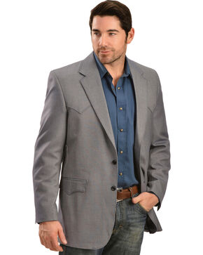 Circle S Men's Desert Blue Western Sport Coat, Blue, hi-res