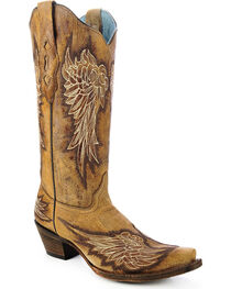Corral Women's Angel Wing Western Boots, , hi-res