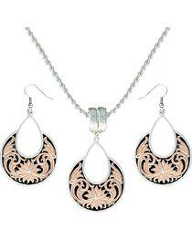 Montana Silversmiths Women's Rose Gold Bitterroot Jewelry Set, Silver, hi-res