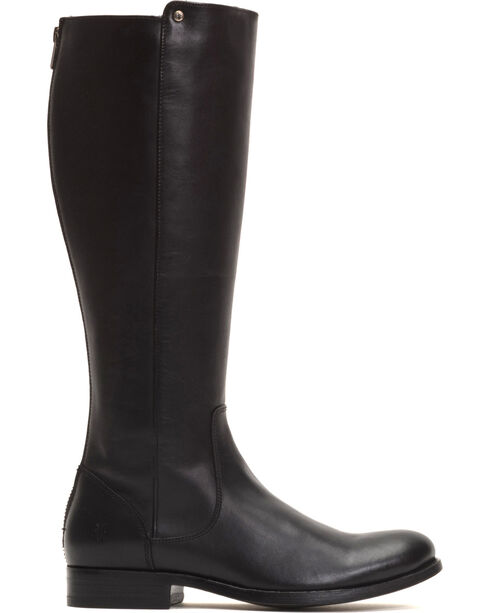 Frye Women's Black Melissa Stud Back Zip Boots - Round Toe , , hi-res