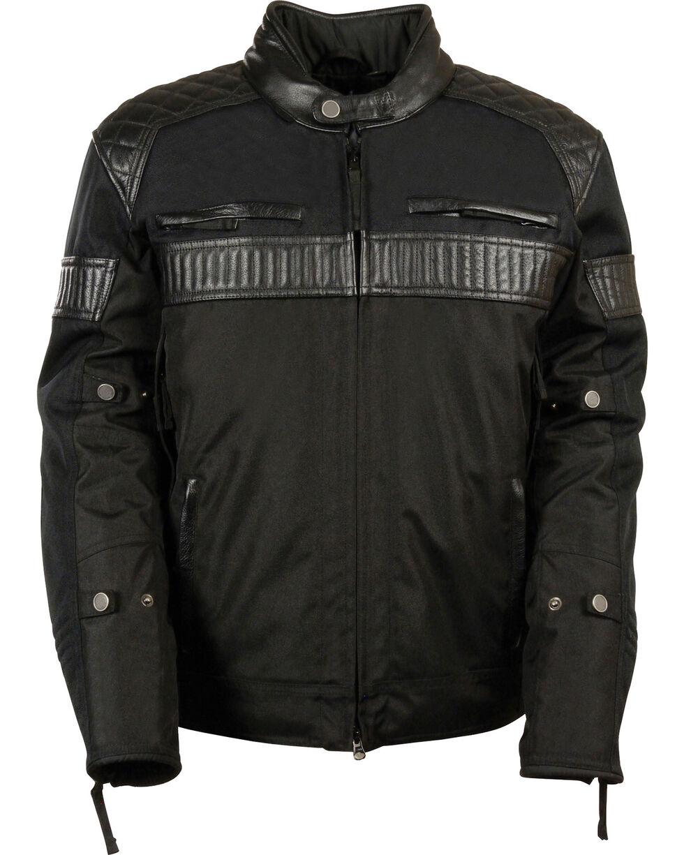 Milwaukee Leather Men's Black Textile Scooter Jacket - 4X, Black, hi-res