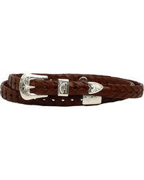 M & F Western Men's Braided Leather Concho Hatband, , hi-res