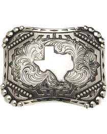"AndWest Vintage ""Silverton"" State of Texas Belt Buckle, , hi-res"