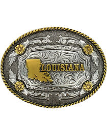Cody James® Dual Tone Oval Louisiana Buckle, , hi-res
