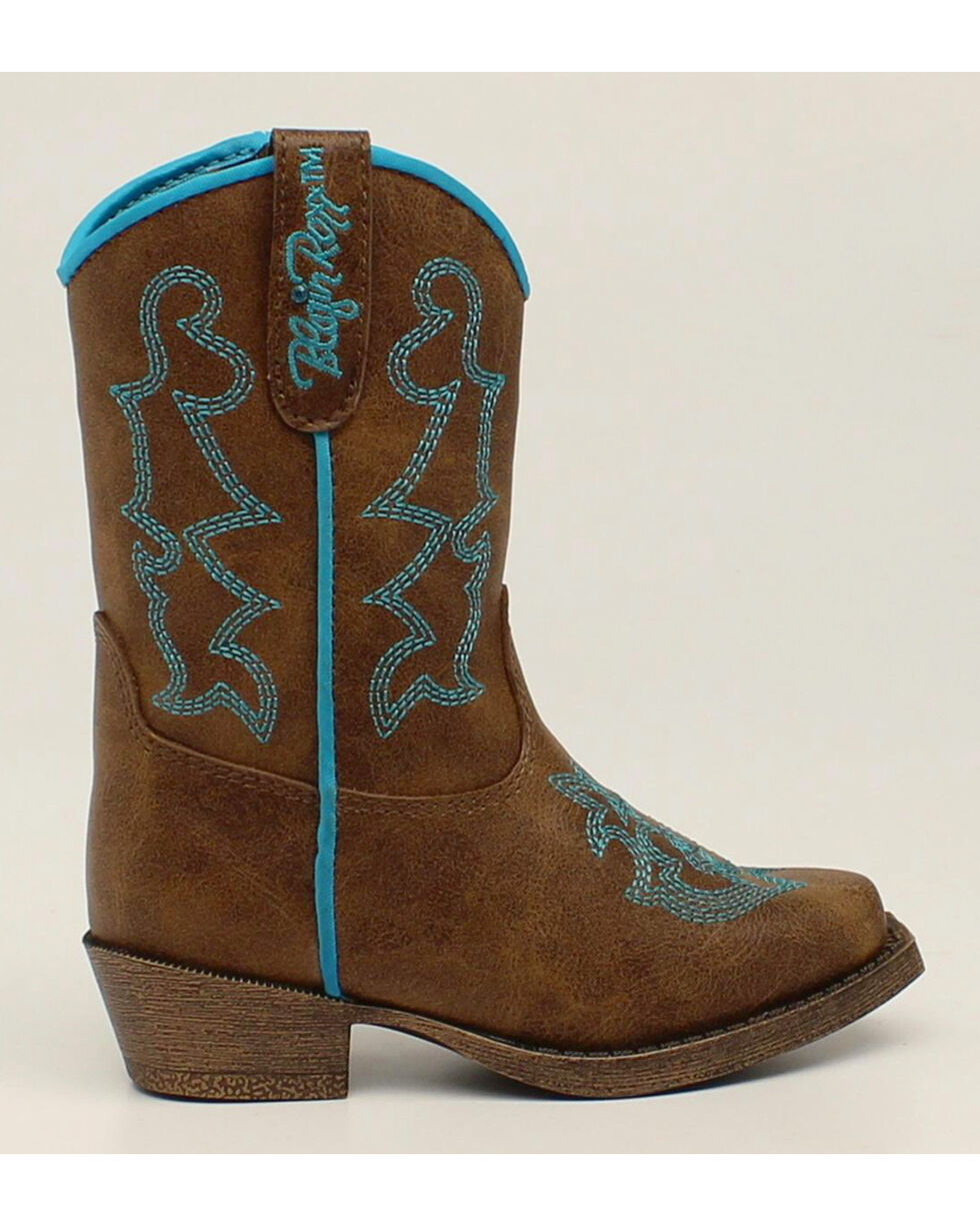 Blazin Roxx Toddler Girls' Caroline Cowgirl Boots - Snip Toe, Brown, hi-res