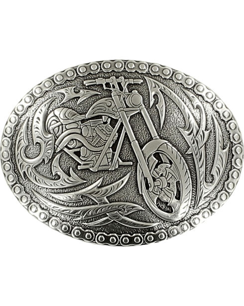 Crumrine Vintage Men's Chopper Belt Buckle, Silver, hi-res
